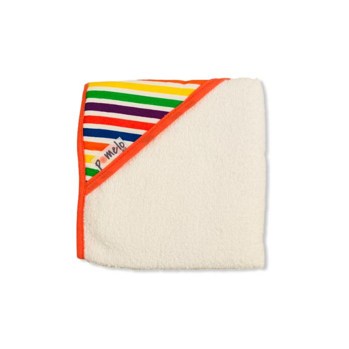Toalha de bebê com capuz 100% algodão Listras color