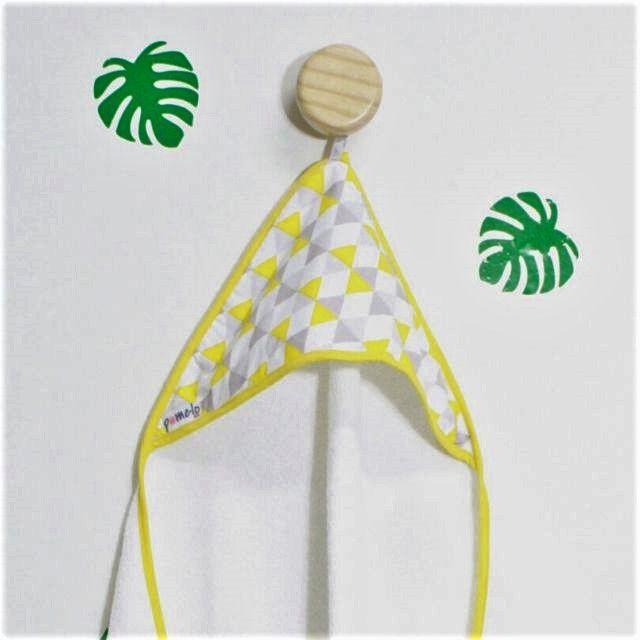 Toalha bebê 65 x 65 cm 100% algodão Losango amarelo
