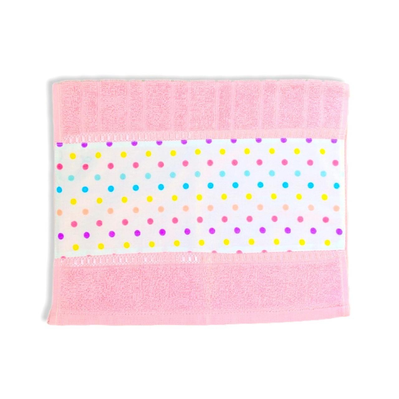 Toalha de rosto infantil 100% algodão Confete candy