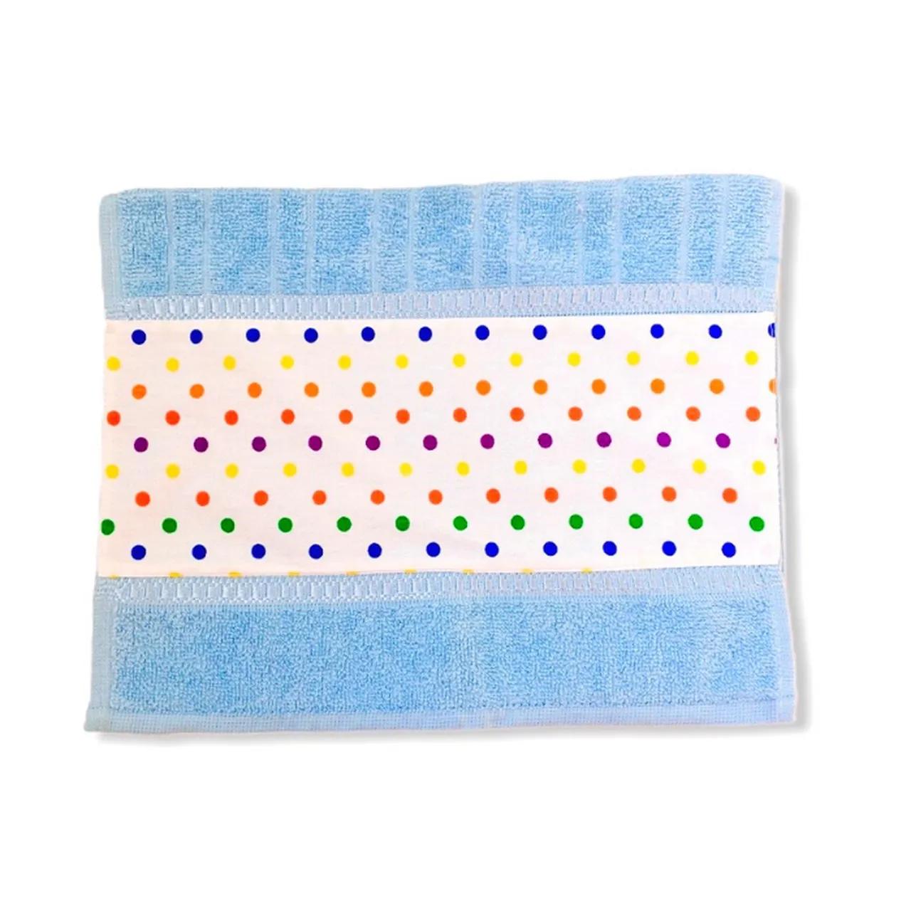 Toalha de rosto infantil 100% algodão Confete Color