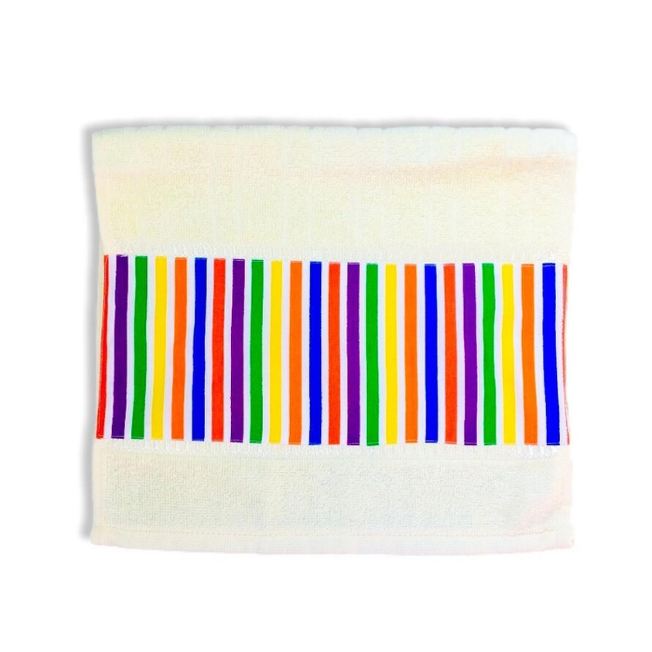 Toalha de rosto infantil 100% algodão Listrado Color