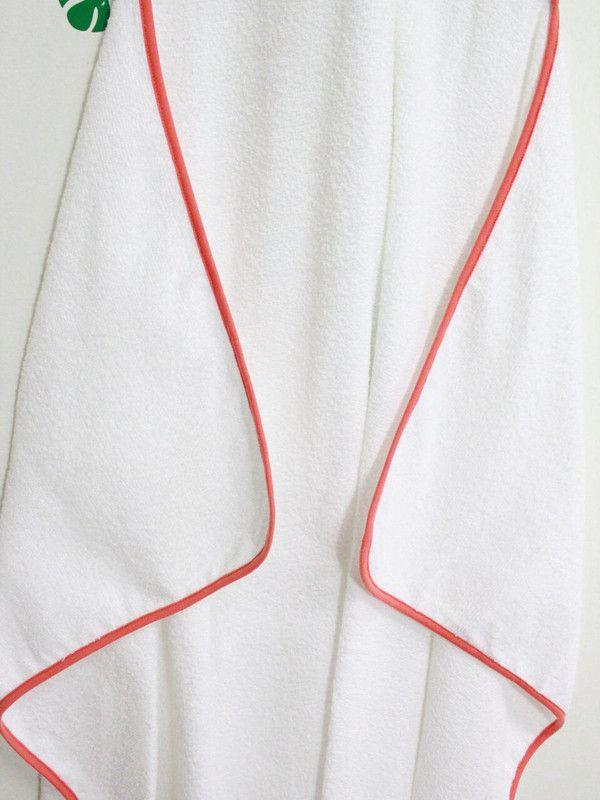 Toalha de banho infantil com capuz 100% algodão Listras color