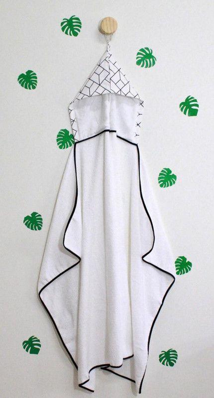 Toalha infantil 90 x 130 cm 100% algodão Monochrome  - Pomelo Decor