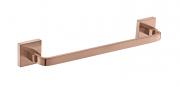 Porta Toalha De Rosto Barra 30 cm - Quadrado Em Latão Rose Gold Fosco HB-A0128RF
