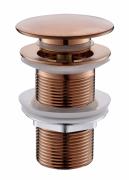 Válvula Click Up De Latão Rose Gold Fosco Sem Ladrão Para Cuba HB-LS106RF