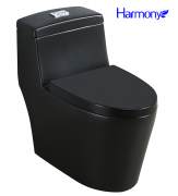 Vaso Sanitário Preto Fosco Monobloco Harmony