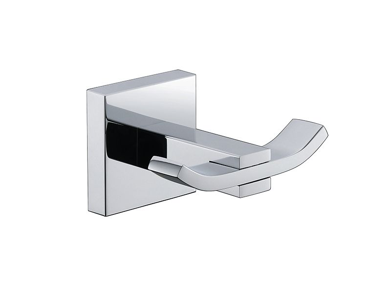 Kit De Acessório Quadrado Em Latão Cromado Para Banheiro 4 Peças HB-AK002