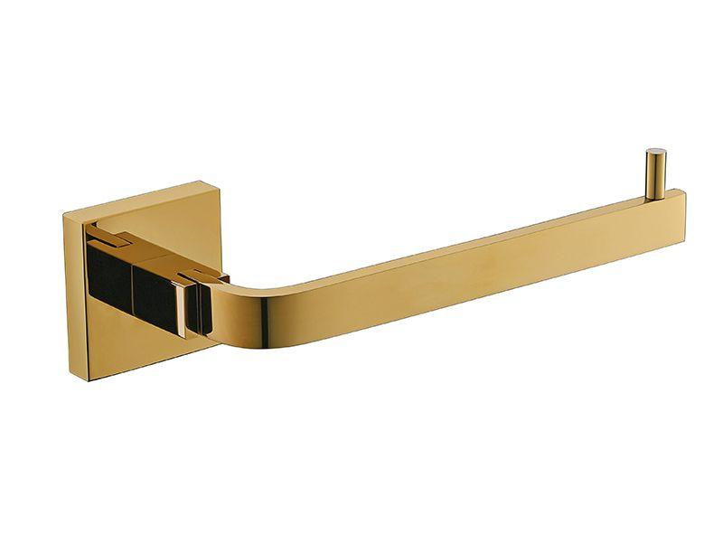 Kit De Acessório Quadrado Em Latão Dourado Para Banheiro 4 Peças HB-AK001D