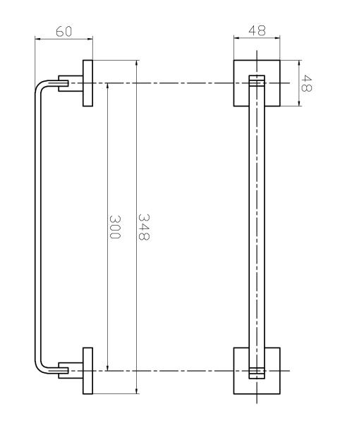 Kit De Acessório Quadrado Em Latão Rose Gold Fosco Para Banheiro 4 Peças HB-AK002RF