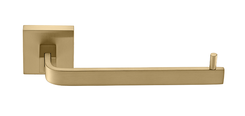 Porta Papel Higiênico - Quadrado Em Latão Dourado Fosco HB-A0125DF