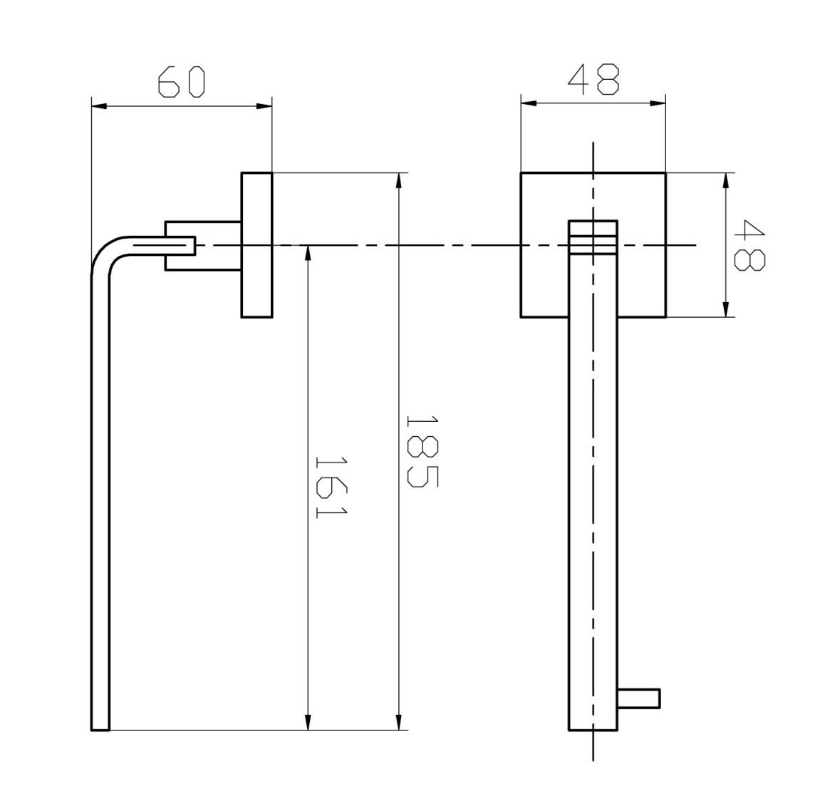 Porta Papel Higiênico - Quadrado Em Latão Preto Fosco HB-A0125P