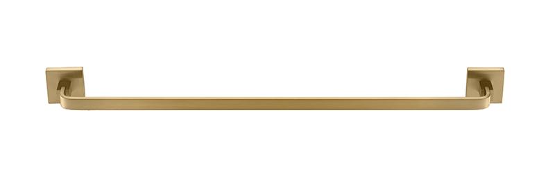 Porta Toalha De Banho Barra Simples - Quadrado Em Latão Dourado Fosco HB-A0127DF