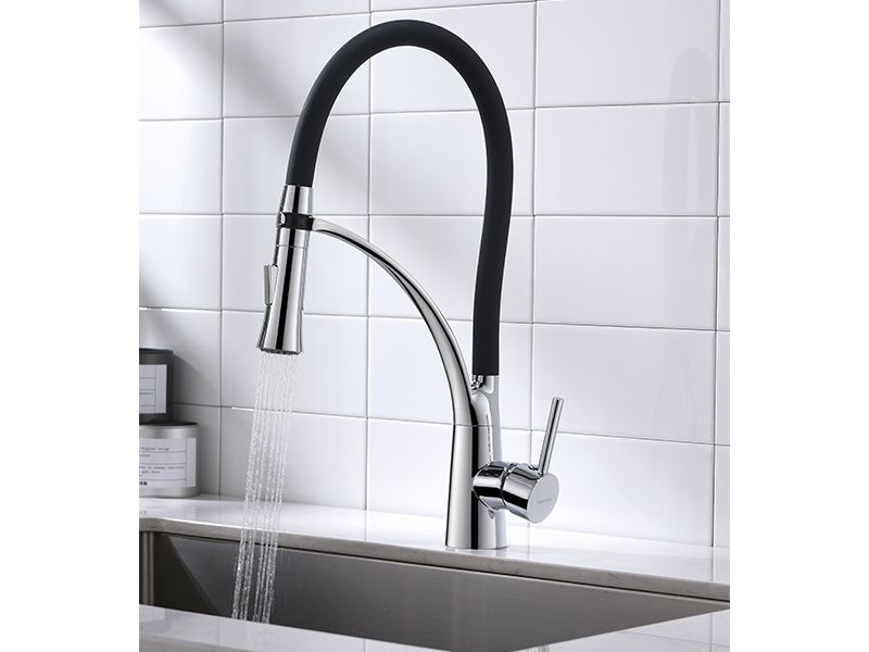 Torneira Cozinha Preto Flexível Gourmet Misturador Mesa HB-M0103