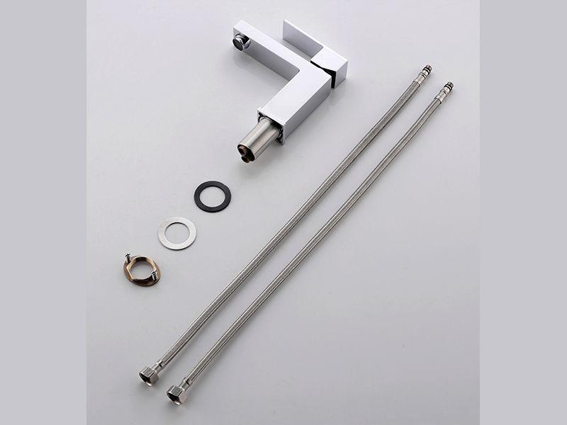 Torneira Misturador Monocomando Cromado Quadrado Para Banheiro M0101