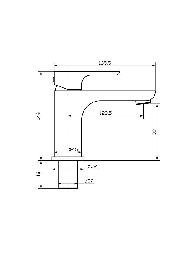 Torneira Misturador Monocomando Preto Fosco Redondo Para Banheiro M0105P