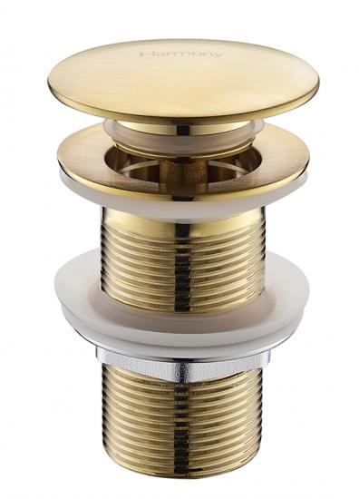 Válvula Click Up De Latão Dourada Fosco Sem Ladrão P/cuba HB-LS106DF