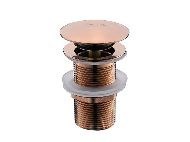 Válvula Click Up De Latão Rose Gold Sem Ladrão Para Cuba HB-LS106M