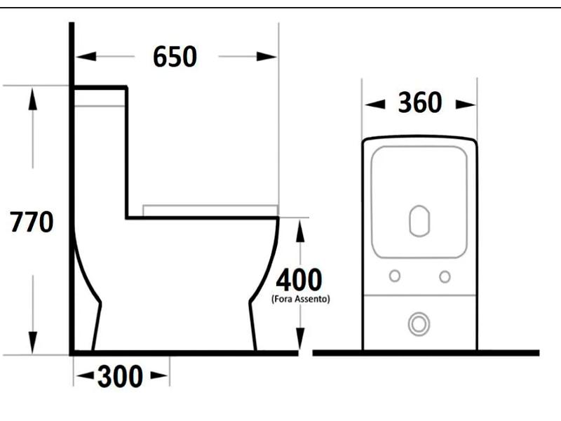 Vaso Sanitário Monobloco Harmony 8018 Preto