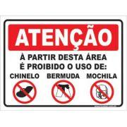 A partir desta área é proibido o uso