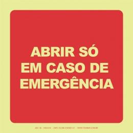 Abrir Só Em Caso de Emergência