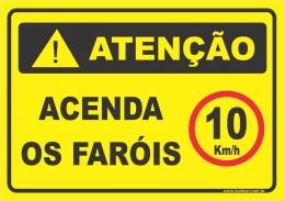 Acenda os faróis, velocidade 10km/h