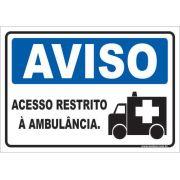 Acesso Restrito à Ambulância