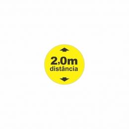 Adesivo para solo Distanciamento 2 metros - Circular