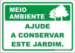 Ajude a conservar este jardim