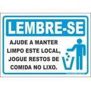 Ajude a manter este local limpo