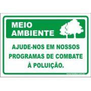 Ajude-nos em nossos programas de combate a poluição