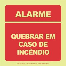 Alarme - Quebrar em Caso de Incêndio