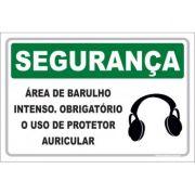 Área de barulho interno obrigatório uso protetor auricular