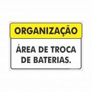 Área de troca de baterias