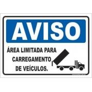 Área Limitada Para Carregamento de Veículos