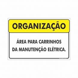 Área para carrinhos de manutenção elétrica