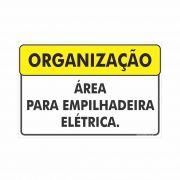 Área para empilhadeira elétrica