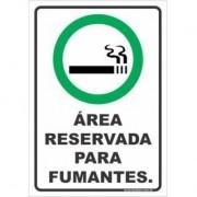 Área preservada para fumantes