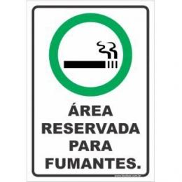 Área reservada para fumantes