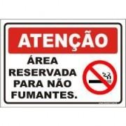 Área preservada para não fumantes