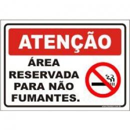 Área reservada para não fumantes