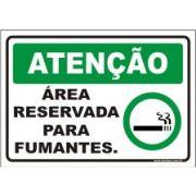 Área preservada só para fumantes