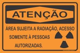 Área Sujeita a Radiação, Acesso Somente à Pessoas