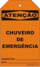Atenção - Chuveiro de emergência