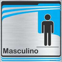 Identificação Banheiro Masculino (20x20cm)