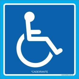Placa cadeirante