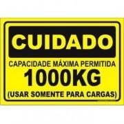 Capacidade Máxima Permitida 1000kg
