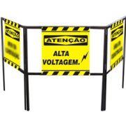 Cavalete biombo - Alta voltagem