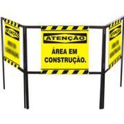 Cavalete biombo - Área em construção