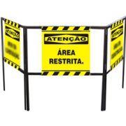 Cavalete biombo - Área restrita