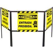 Cavalete biombo - Entrada proibida